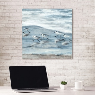 Teal Canvas Wall Art parvez taj 'birds skylight' canvas print - free shipping today