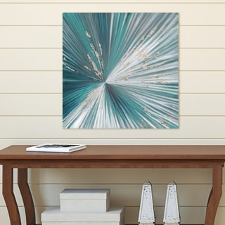 Portfolio Canvas Decor Centerpoint I Teal by Emily Williams Wrapped Canvas Wall Art