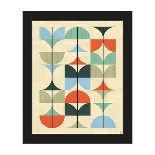 Thin Structures Mod Framed Canvas Wall Art Print