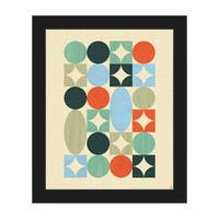 Retro Jewels Mod Art Framed Canvas Wall Art Print