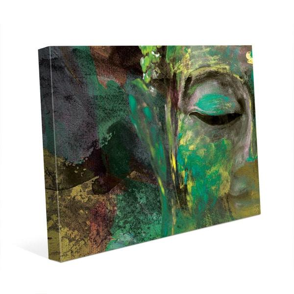 Fine Art Print of Teaching Buddha on a moss green background Buddha Wall Art Spiritual art withwithout frame multi panel Canvas