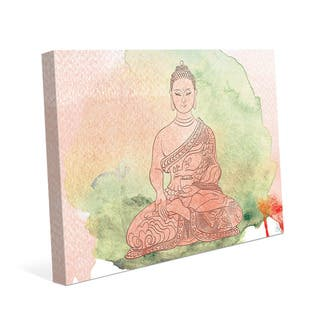 Tea Rose Watercolor Buddha Wall Art Canvas Print