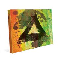 Yellow Painted Triangle Wall Art Print on Canvas