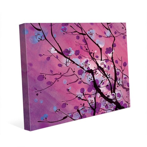 Mulberry Floral Branch Wall Art Print on Canvas