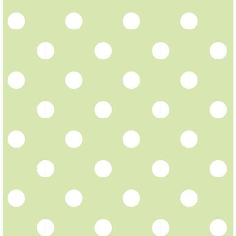 Green Dottie Peel & Stick Wallpaper