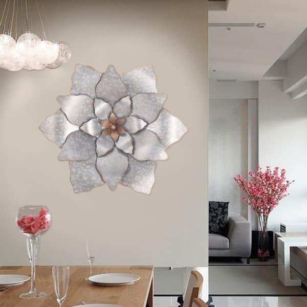 Galvanlized Metal Flower Wall Decor Overstock 16722920