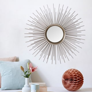 Link to Sunburst Metal Round Wall Mirror Similar Items in Mirrors