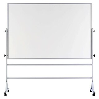 """Offex 48""""x72"""" White Remarkaboard both sides Reversible, Aluminum Trim"""