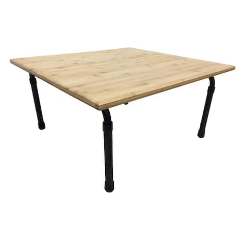 Zora Brown Bamboo Height Adjustable Table, 24 Inch Long