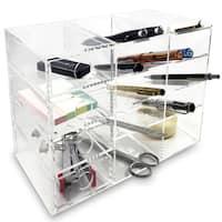 Ikee Design Acrylic 4-Shelf Office Supply Organizer Storage Drawer Case