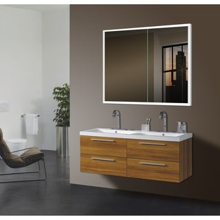 Kona Silver Glass LED Mirror Cabinet