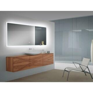 Azure Silver Glass/Metal LED Mirror