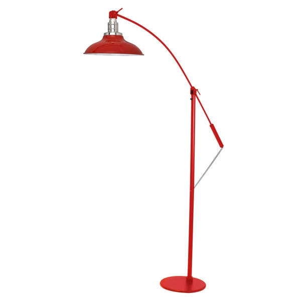 Peony Red Metal LED Industrial Floor Lamp - Cherry Red
