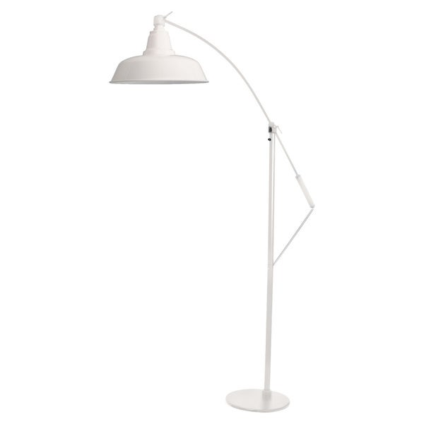 "10"" Goodyear LED Industrial Floor Lamp - White"
