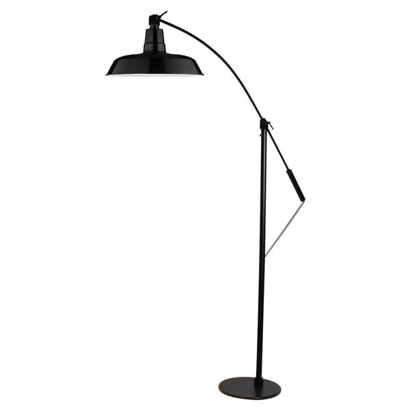 Oldage Black Metal LED Industrial Floor Lamp