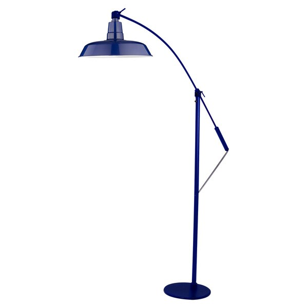 "12"" Oldage LED Industrial Floor Lamp - Cobalt Blue"