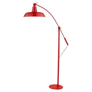 Oldage Red Metal LED Industrial Floor Lamp