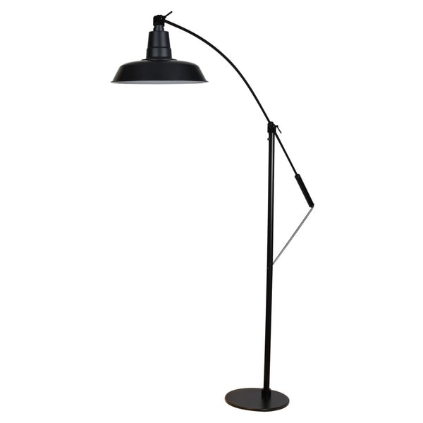 "12"" Oldage LED Industrial Floor Lamp - Matte Black"