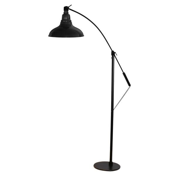 Dahlia Black 8-inch LED Industrial Floor Lamp
