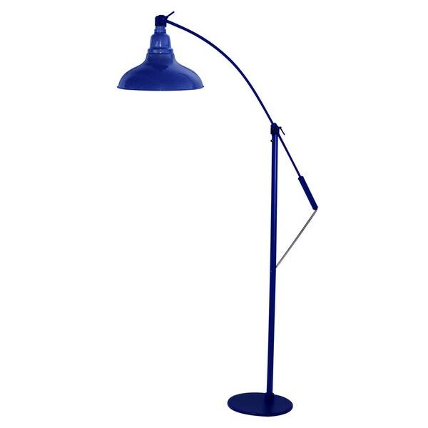 Dahlia Cobalt Blue LED Industrial Floor Lamp
