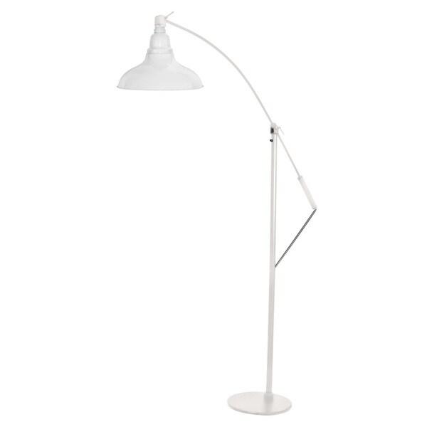 Dahlia White Metal 8-inch LED Industrial Floor Lamp