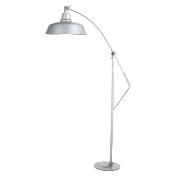"10"" Goodyear LED Industrial Floor Lamp - Galvanized Silver"