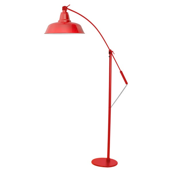 Cocoweb Goodyear Cherry Red 10-inch LED Industrial Floor Lamp