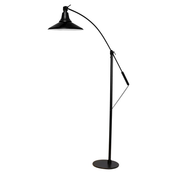 "12"" Calla LED Industrial Floor Lamp - Black"