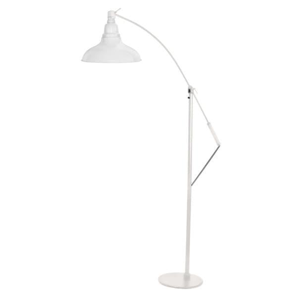 White 12-inch Dahlia LED Industrial Floor Lamp