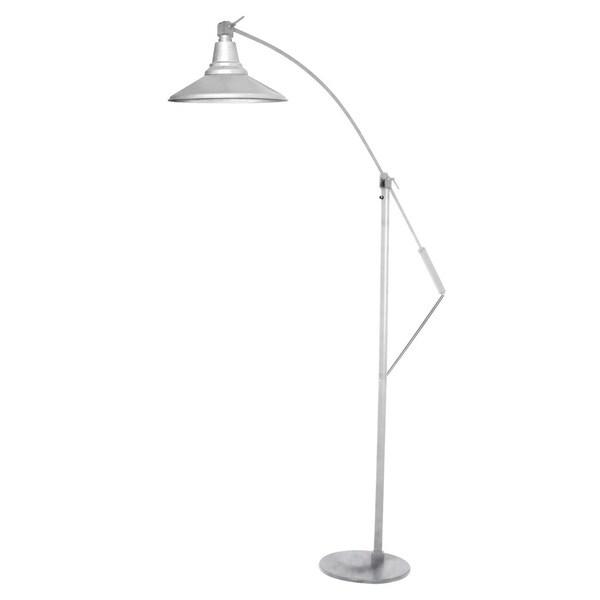 "12"" Calla LED Industrial Floor Lamp - Galvanized Silver"