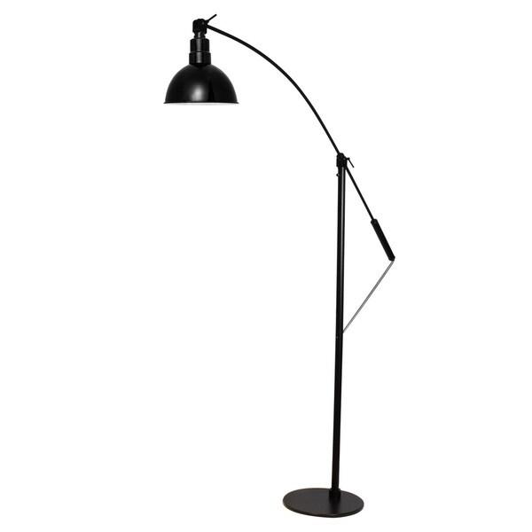 Blackspot Black Metal LED Industrial Floor Lamp