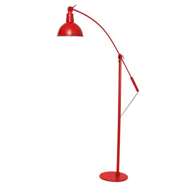 "12"" Blackspot LED Industrial Floor Lamp - Cherry Red"