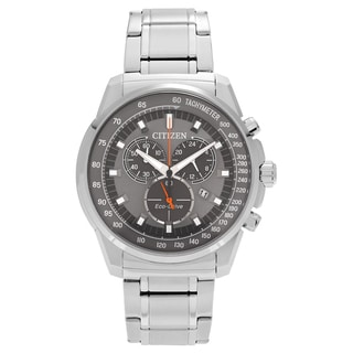 Citizen Men's AT2370-55H 'Eco-Drive' Stainless Steel Chronograph Dial Link Bracelet Watch