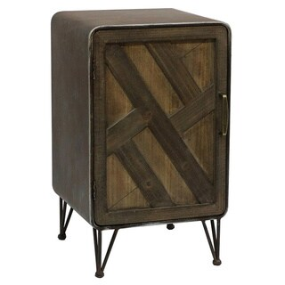 Pine Canopy Iris Wood and Metal Cabinet