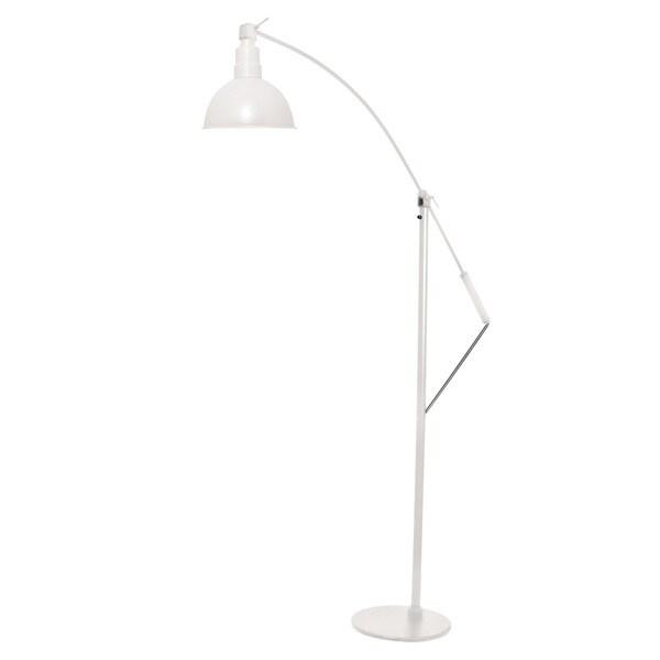 """8"""" Blackspot LED Industrial Floor Lamp - White"""