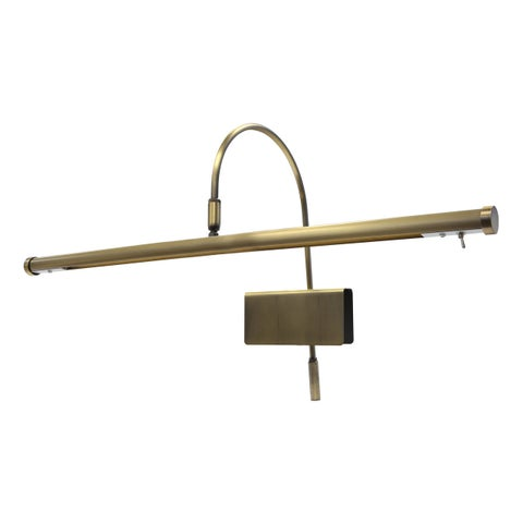 "19"" LED Grand Piano Lamp - Antique Brass"
