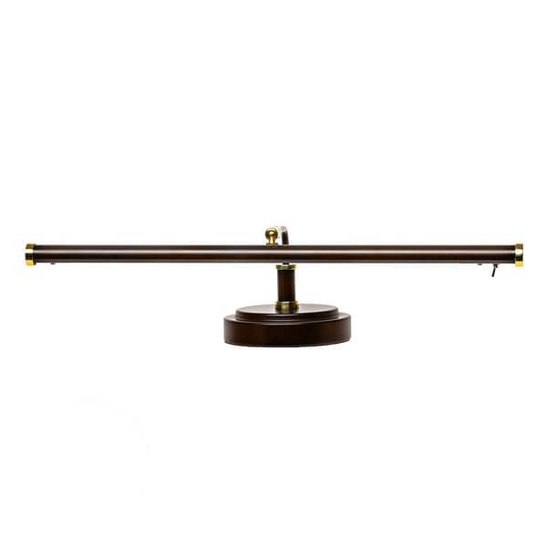 19 4-Height LED Piano Lamp - Mahogany Bronze