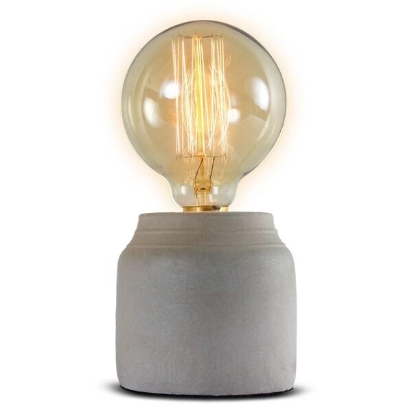 American Art Decor Concrete 8.5-inch Table Lamp