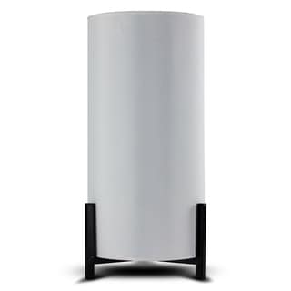 Modern Stylish White Canvas Accent Table Lamp 14.25""