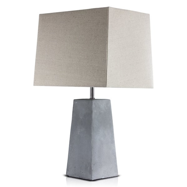 "American Art Decor Concrete 23"" Table Lamp"