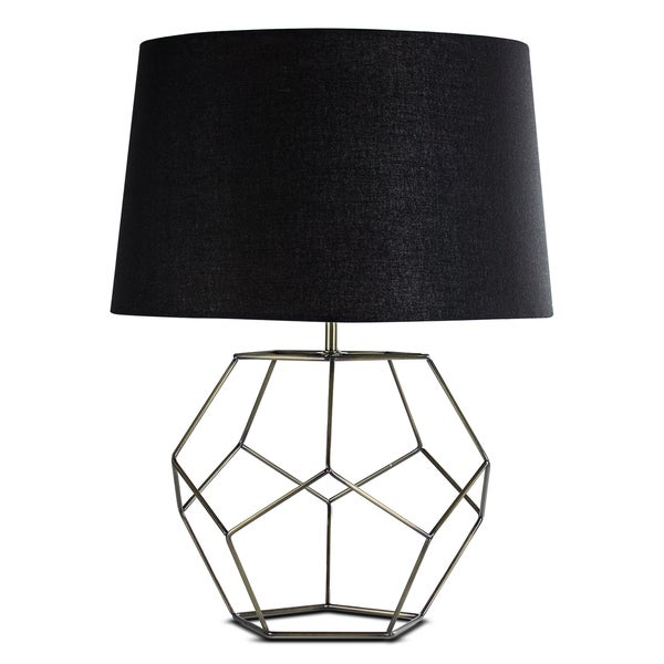 "DISCONTINUED - Metal Cage 22"" Table Lamp"
