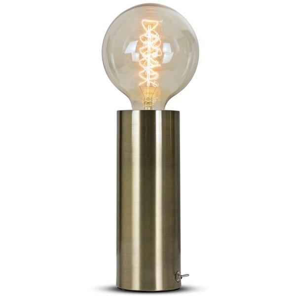 """Millennium Art Modern 14"""" Gold Brass Table Lamp"""