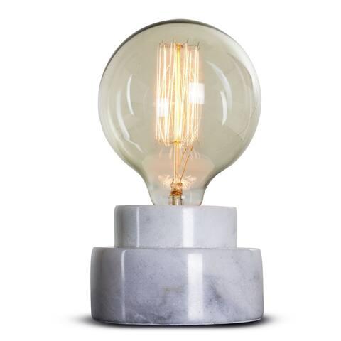 American Art Decor Stylish Modern Marble 7.5-inch Table Lamp