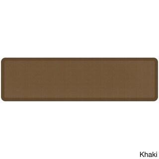 "Designer Comfort Grasscloth Anti-fatigue Mat - 20"" x 72"" (Option: Khaki - N/A)"