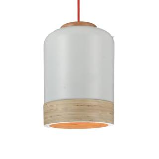 """9"""" Novara LED Pendant Light in White"""