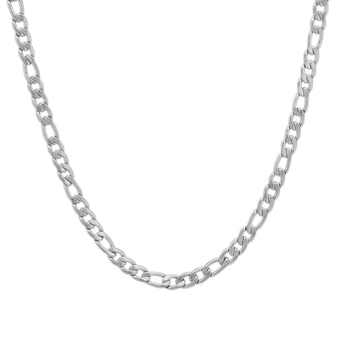 Stainless Steel Figaro Chain Necklace in 3 colors