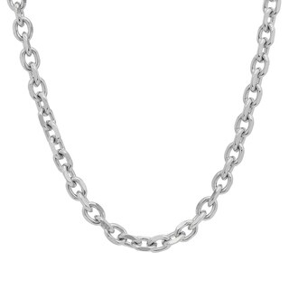 Men's Steeltime Stainless Steel Chain Link Necklace in 2 colors