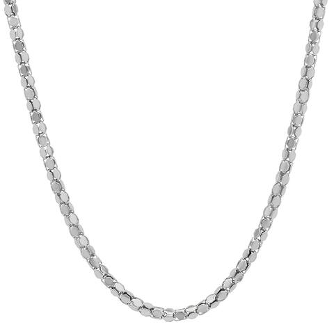 Stainless Steel Coreana Chain Necklace in 2 colors and sizes