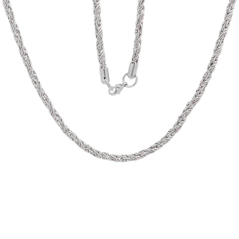 Men's Steeltime Stainless Steel Rope Chain Necklace in 2 colors - White