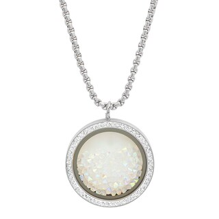 Piatella Ladies Stainless Steel Crystal Pendant in 2 colors
